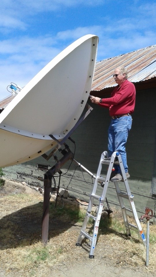 Dave Molter, 12 ft Dish Tear Down