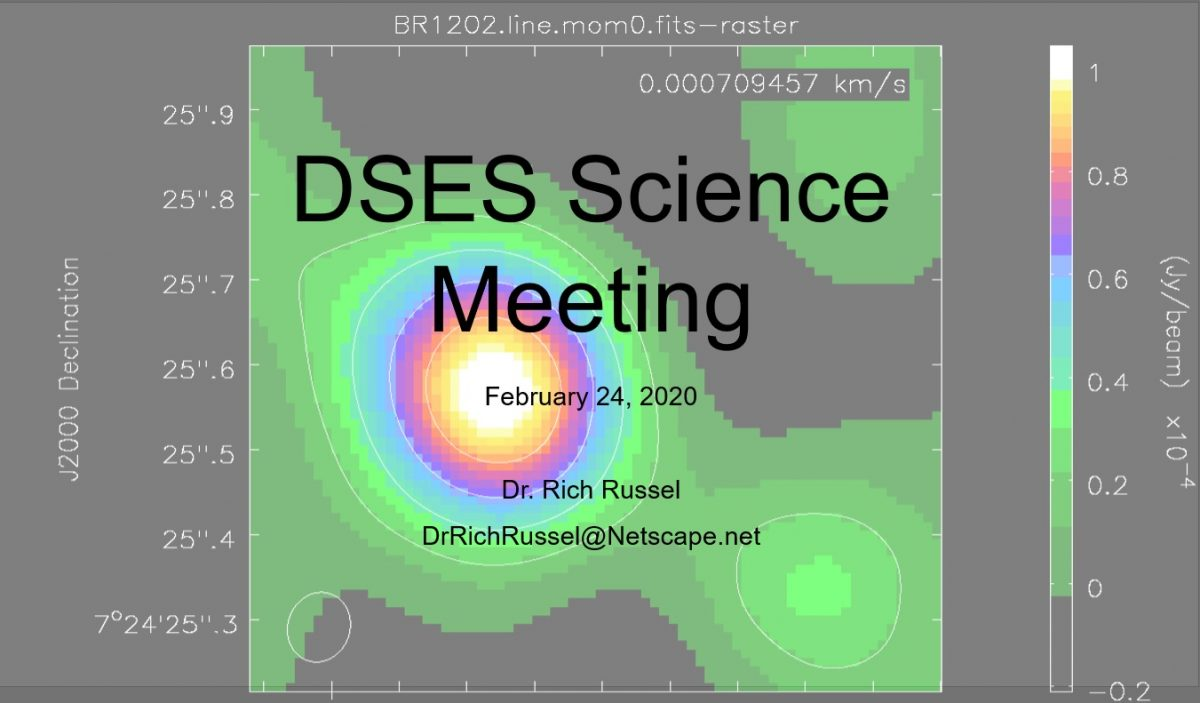 DSES February 2020 Science Meeting
